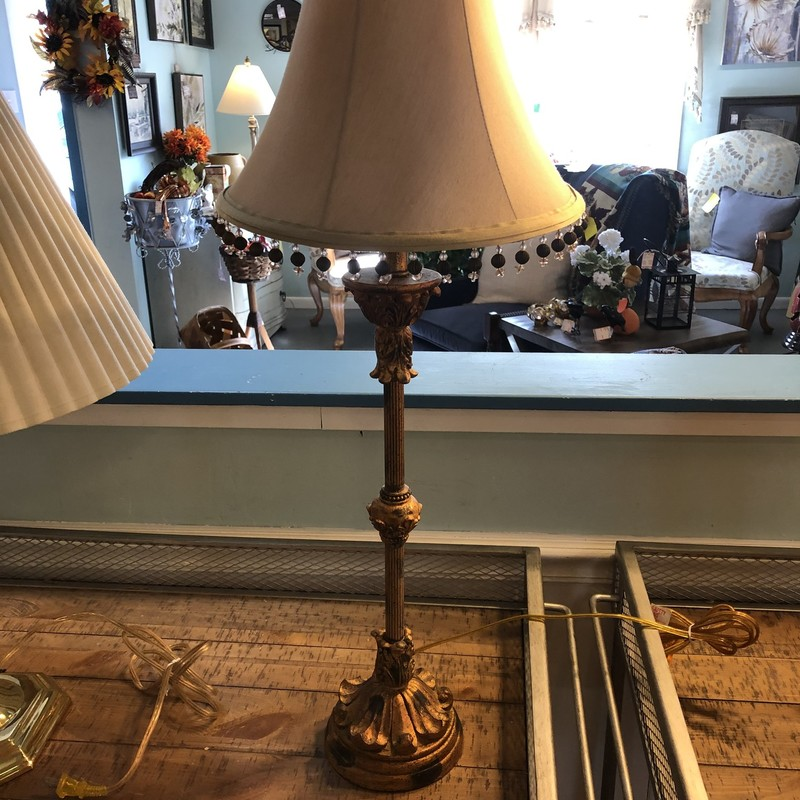 Chic Gold Buffet Lamp.