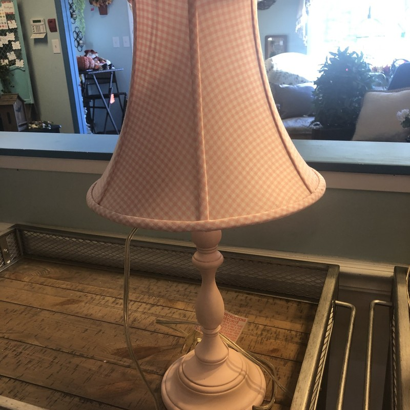 Pottery Barn Pink Plaid L.