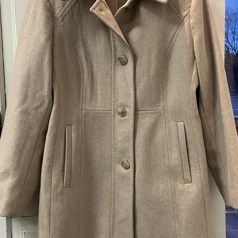 Oatmeal 4 Button Coat.