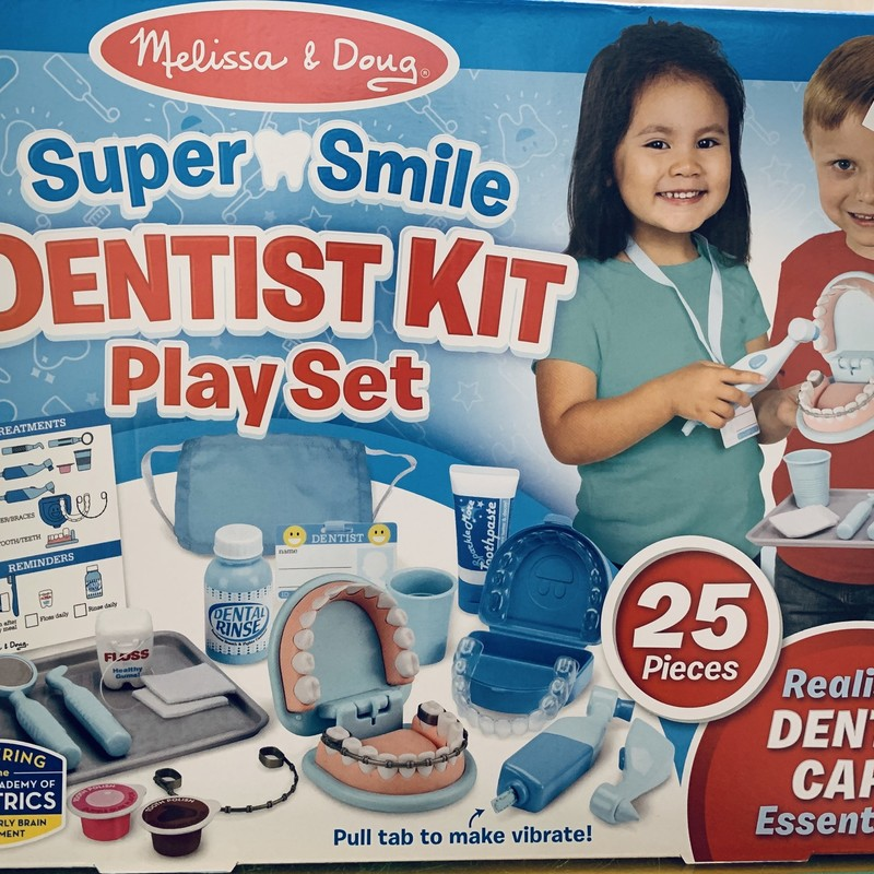 Dentist Kit Play Set, 25 Piece, Size: Pretend