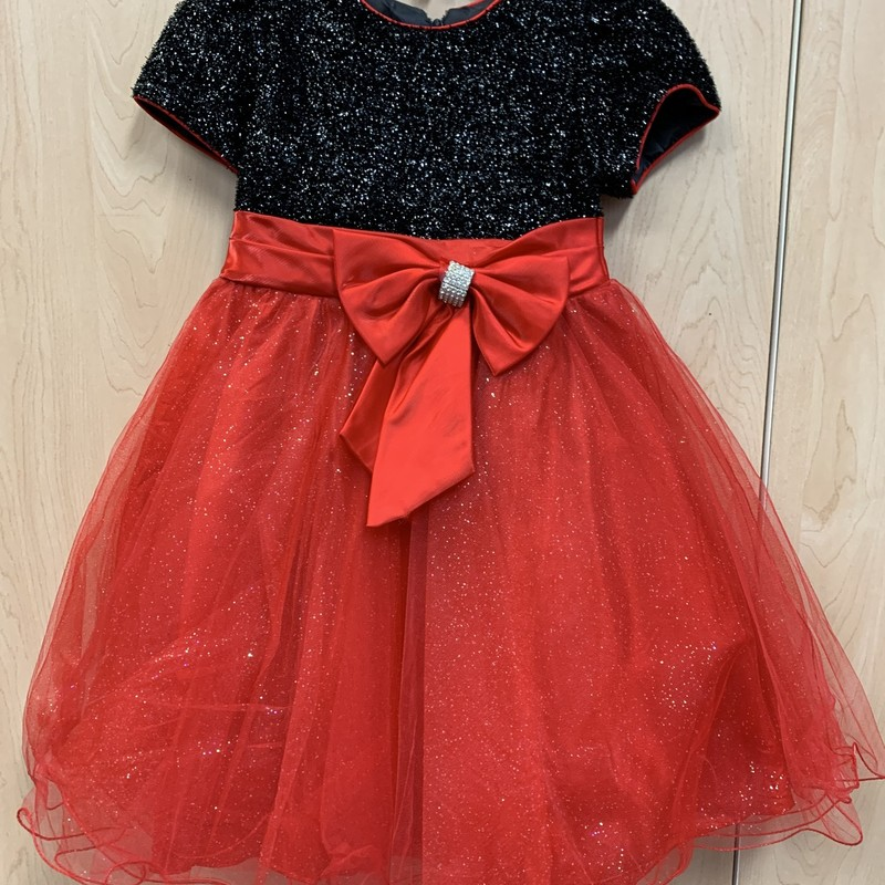 Holiday Dress, Blk/Red, Size: 8