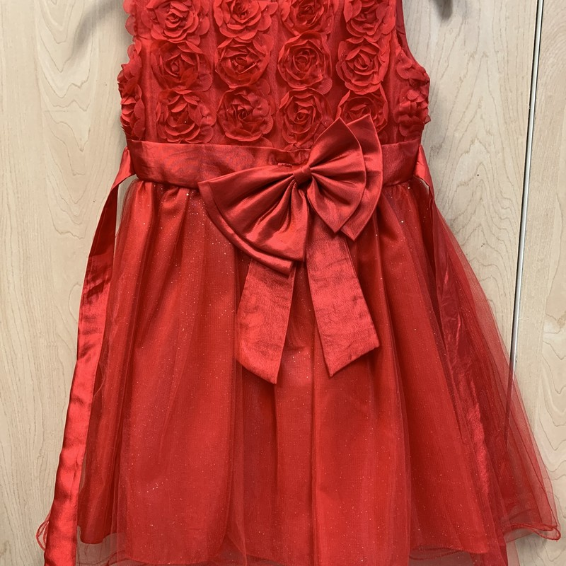 Holiday Dress, Red, Size: 10