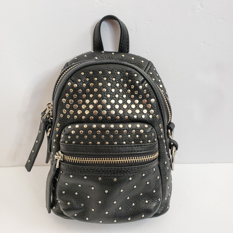 Marc By Marc Jacobs<br /> Studded Backpack Shaped Crossbody<br /> Black with Silver Hardware
