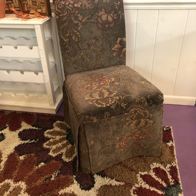 Skirted Accent Chair.