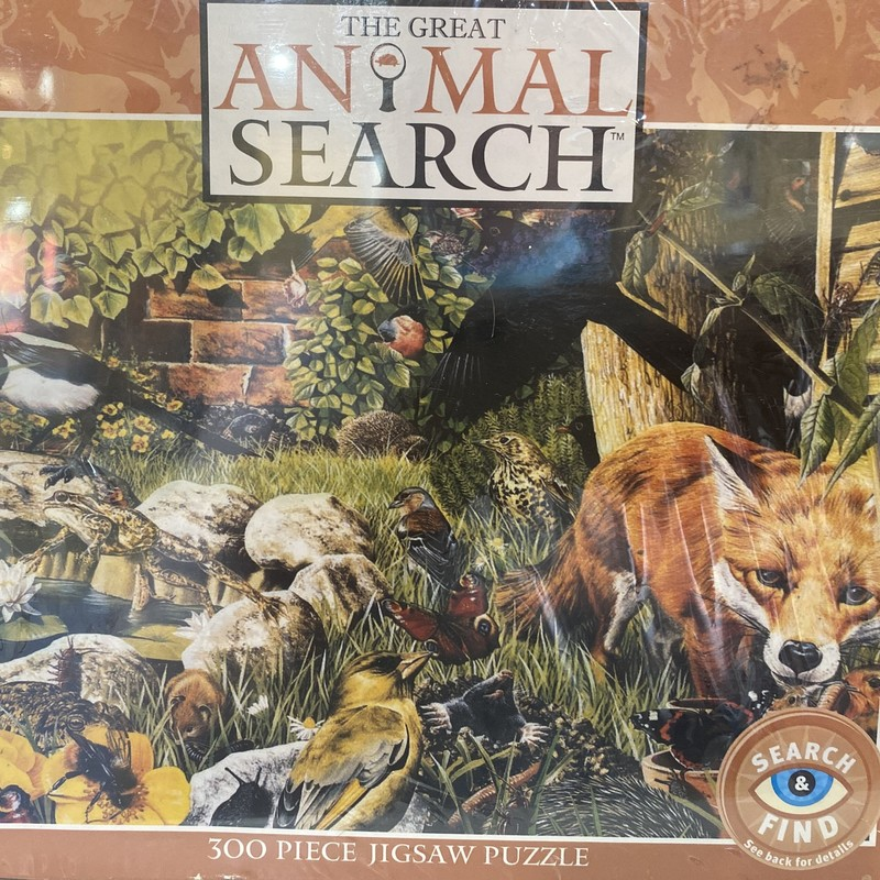 Puzzle, Animal S, Size: 300 Pcs