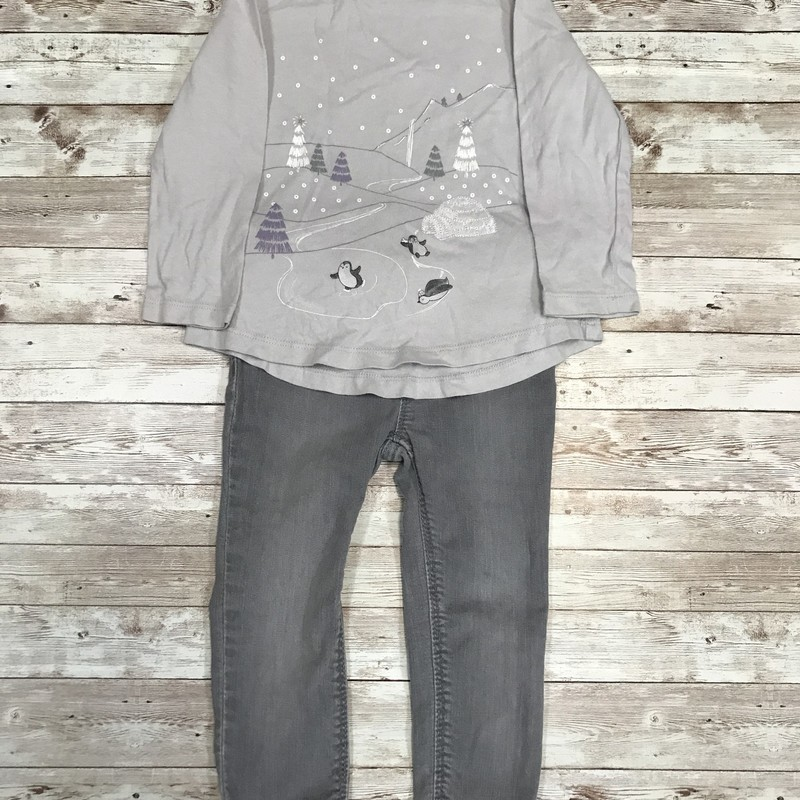Gap Outfit, Grey, Size: 2T Girls