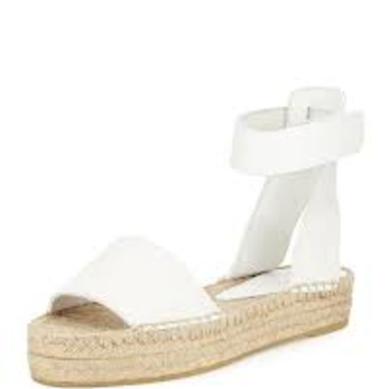 Vince espadrille sandal with leather upper.<br />     1.8&quot; jute-wrapped platform sole.<br />     Banded vamp.<br />     Ankle strap with grip-strap closure.<br />     Braided jute footbed.<br />     Rubber outsole for traction.<br />     &quot;Edie&quot; is made in Italy.&quot;<br /> <br /> Photo and description credits: bergdorfgoodman.com