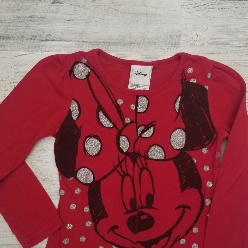 Disney, Red, Size: 4