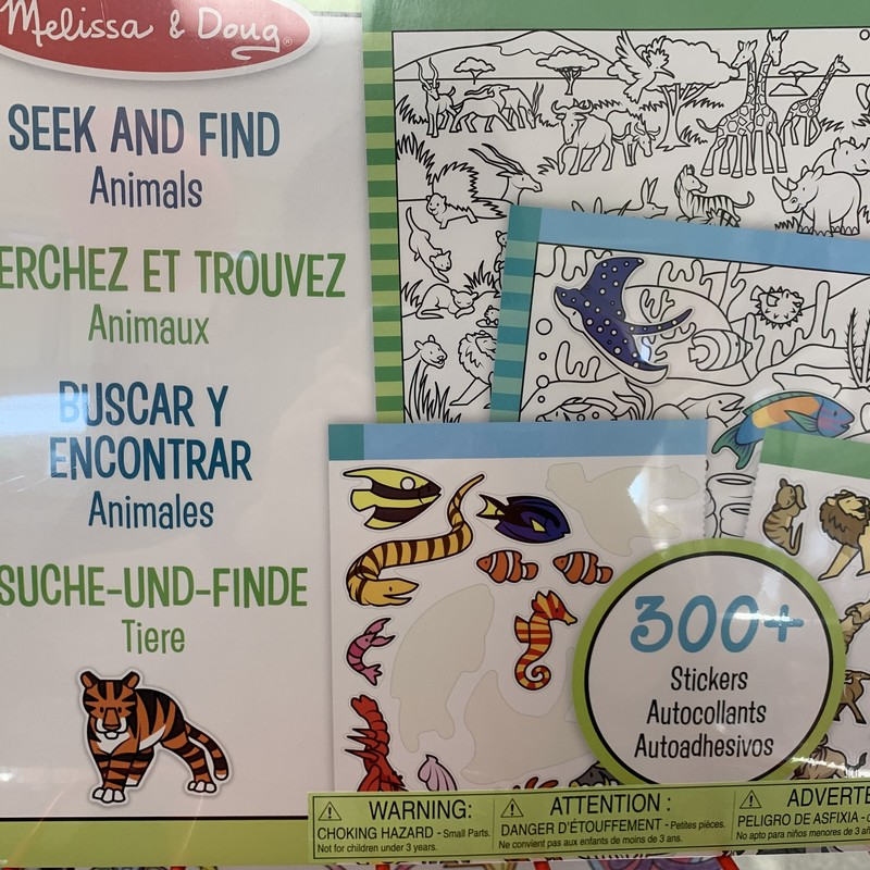 Seek And Find Animals, 4+, Size: Stickers
