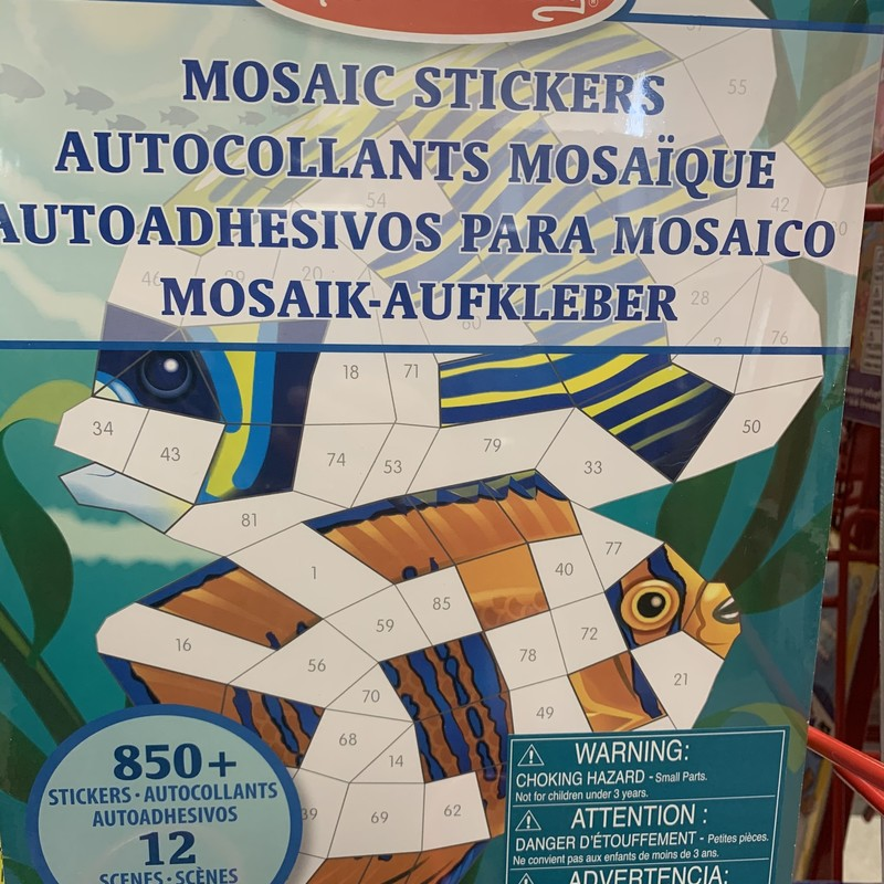 Mosaic Stickers Ocean, 850+, Size: Stickers