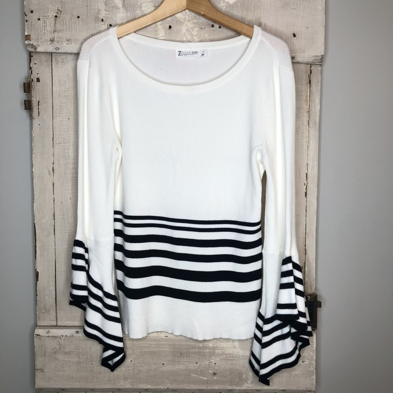 Sweater 7th ave, Wht/blk, Size: Large