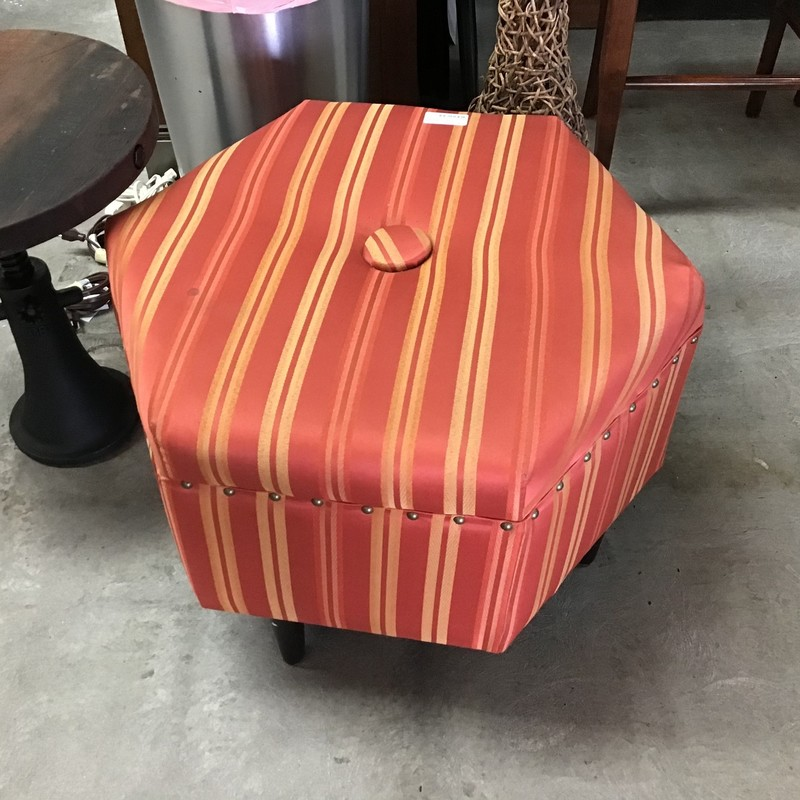 Orange Octogon Ottoman.