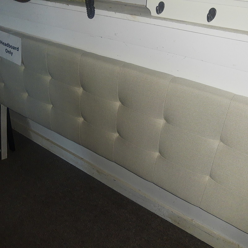 King Cream Upholstered headboard only