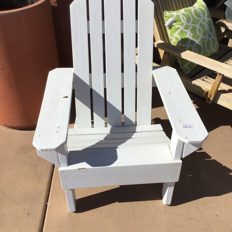 White Aidrondack Chair.