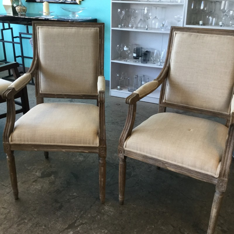 Restoration Hardware French Armchairs, Pair