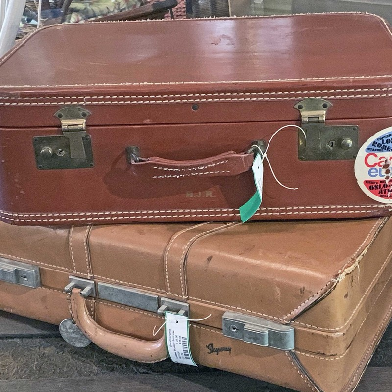 Leather Skyway Suitcase.