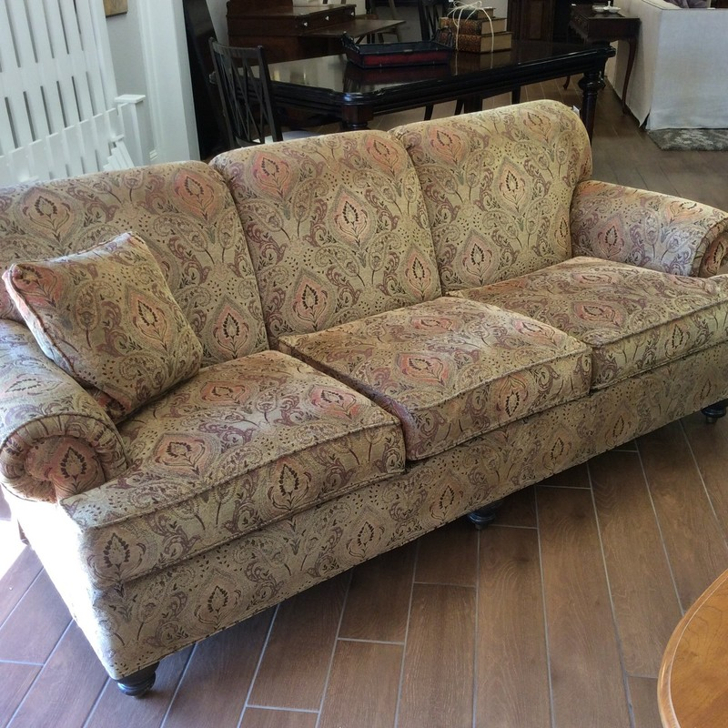 BARGAIN ALERT!!! This ETHAN ALLEN sofa looks brand new! The upholstery isn't for everyone, so we have priced it to move at only $595.