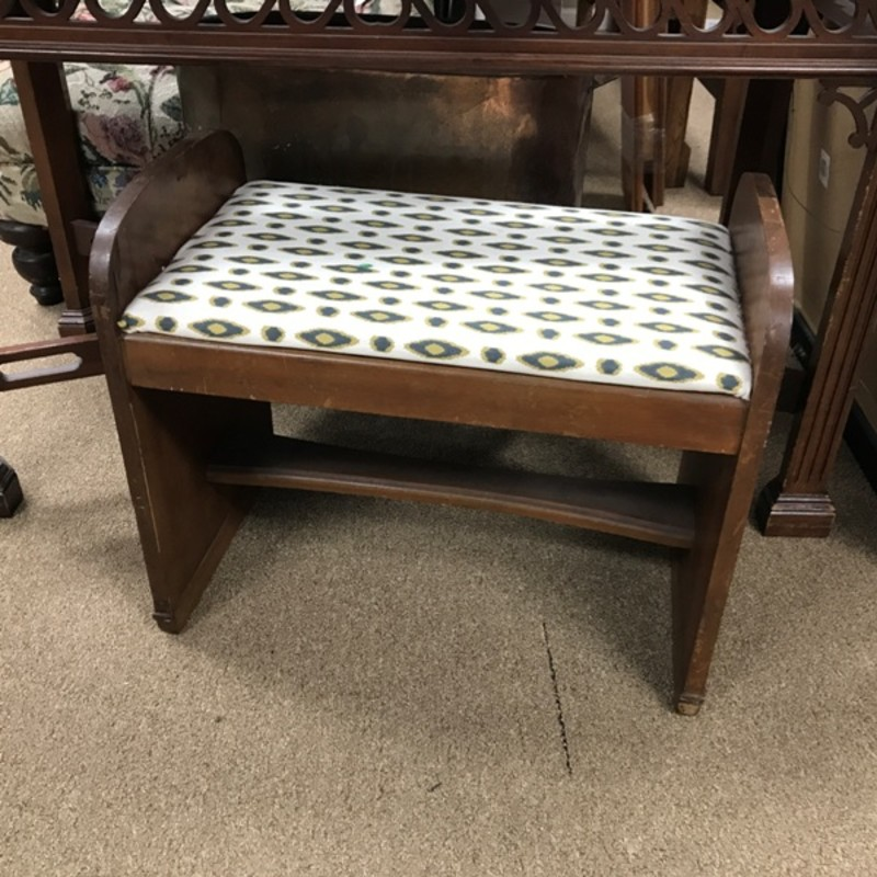 Small Vintage Bench, Size: 25x15x21
