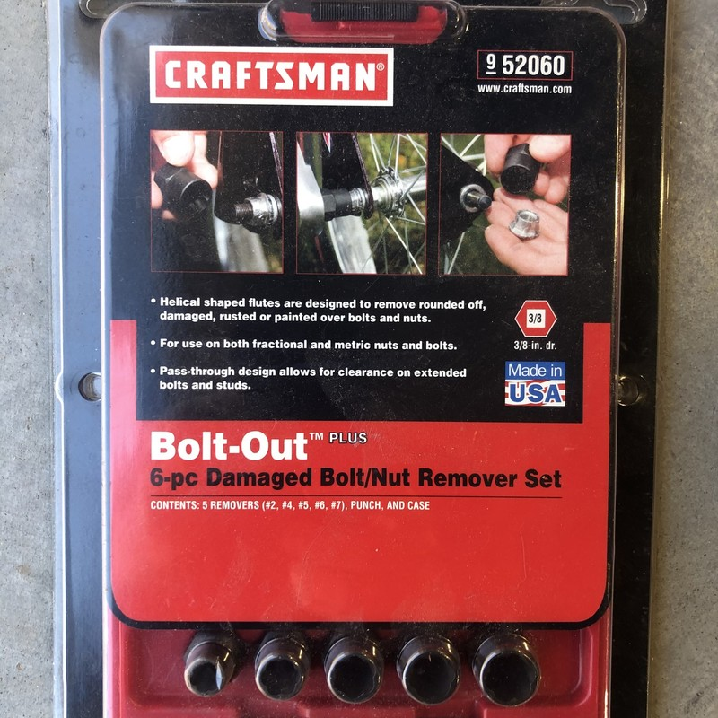 Bolt / Nut Remover Set.