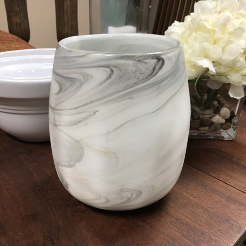 "Marbled Glass Vase, Size: 8"" Tall"