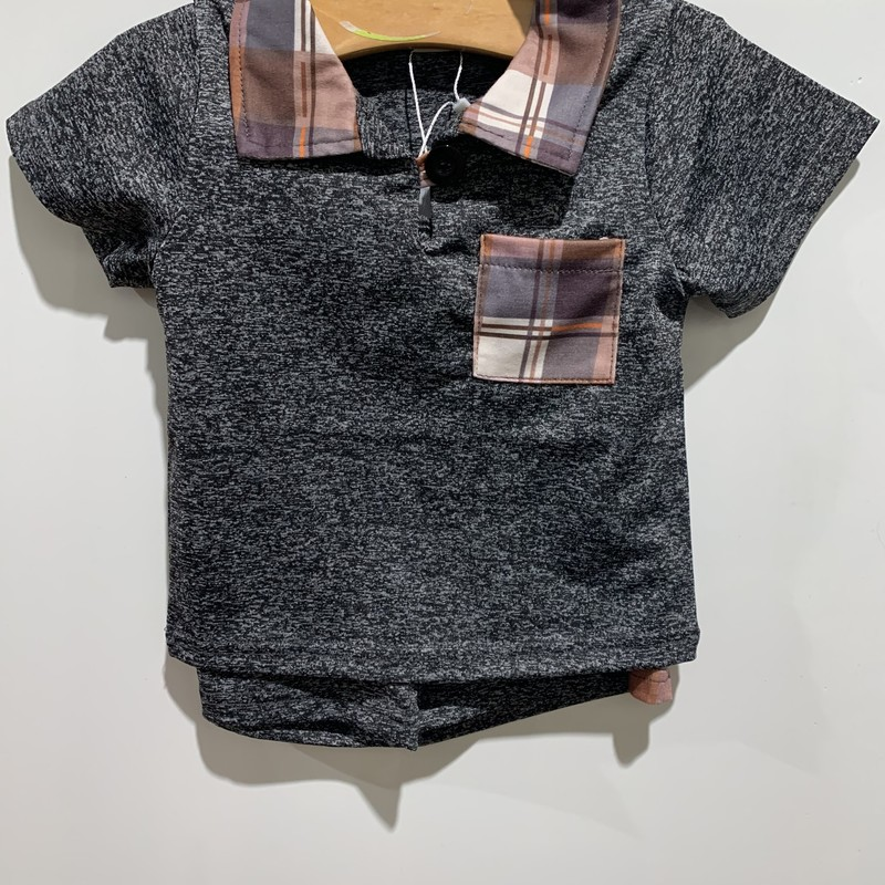 2pc Set, Gray, Size: 4T Boy