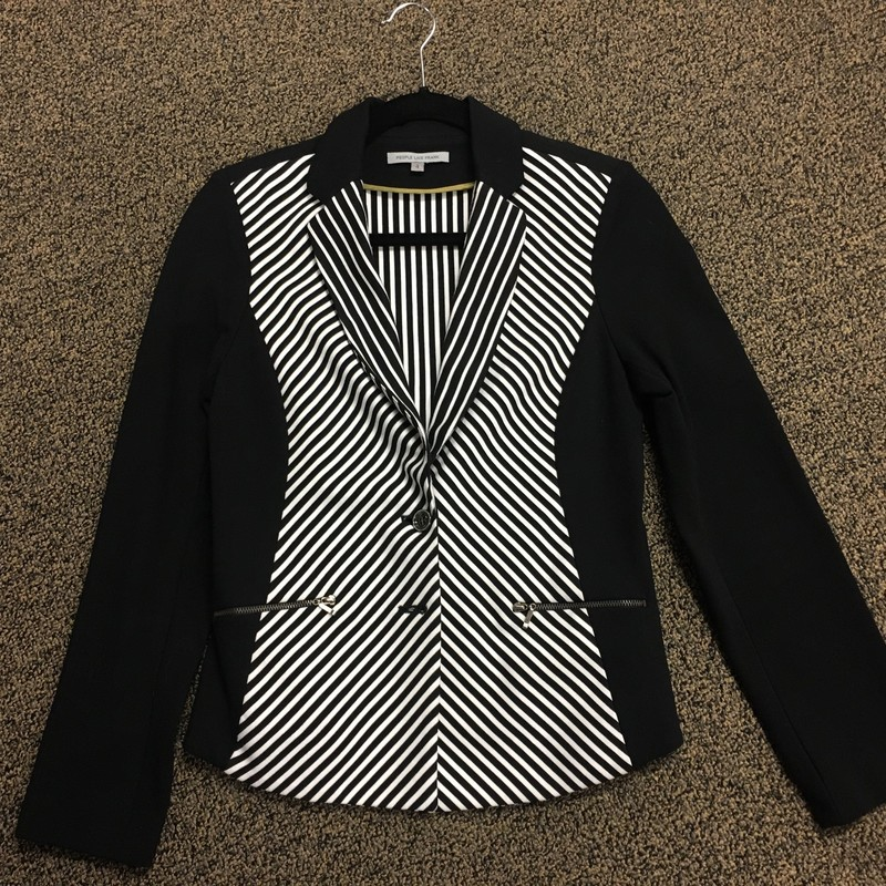 Designer Striped Blazer.