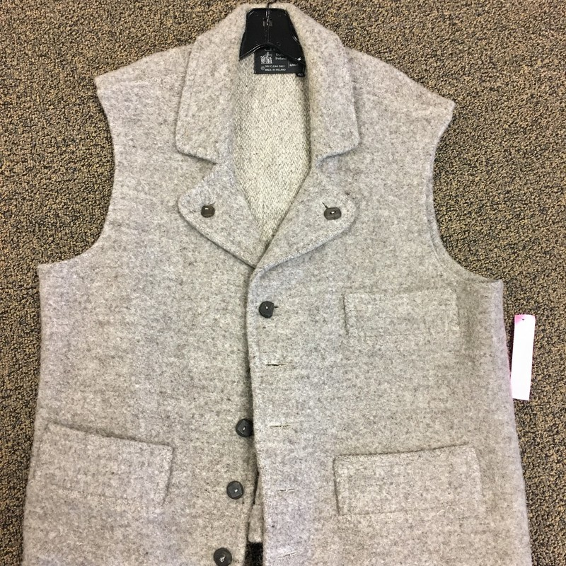 Mens Irish Wool Vest.