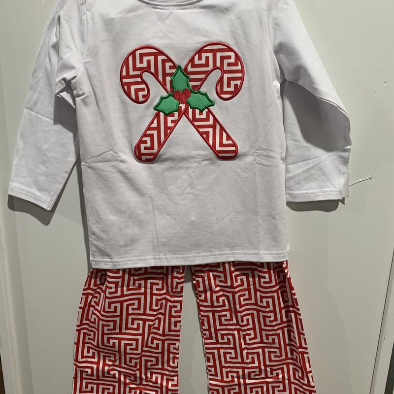 2 Pc Pant Set, Red/wht, Size: 4T Boy