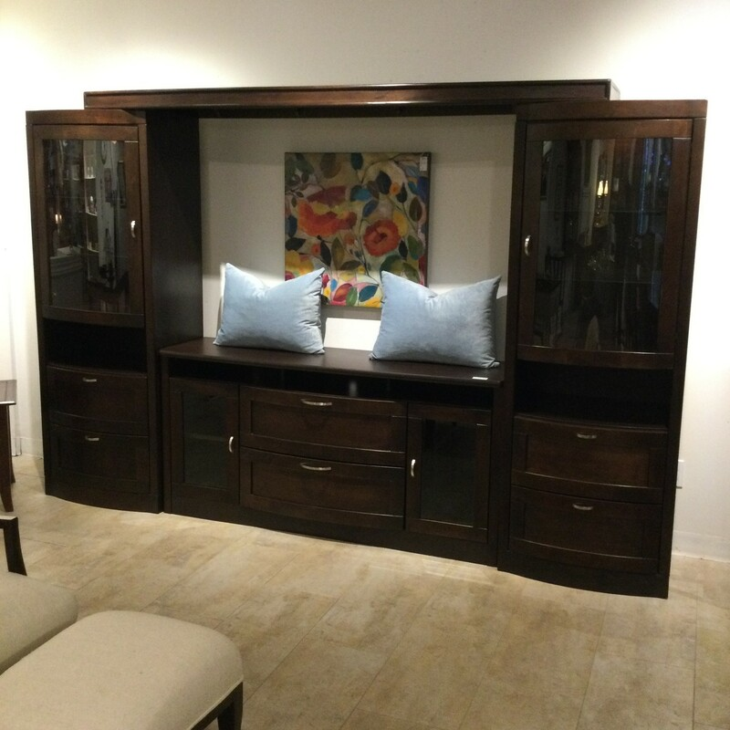 "Entertainment Center<br /> 4 Pieces<br /> Espresso<br /> Size: 61""W X 17""D x 30""H Console<br />            25""W X 17""D X 70""H Upright Cabinets"
