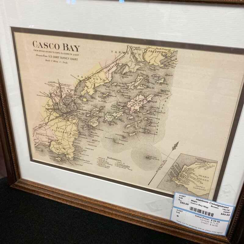 Casco Bay Map.