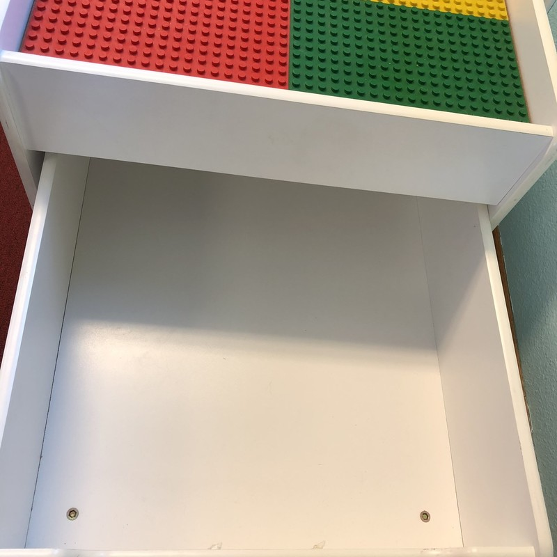 This Lego Duplo table is a great storage solution to all the blocks laying around your house.  This table has an easy to pull out, large storage drawer underneath.