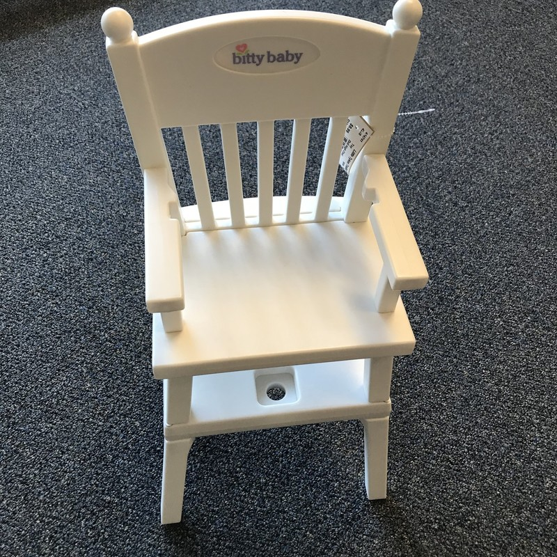 Bitty Baby Doll High Chair in excellent condition but missing the tray.  NO SHIPPING-in store pick up only