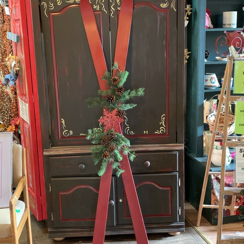 Red Decorated Skis.