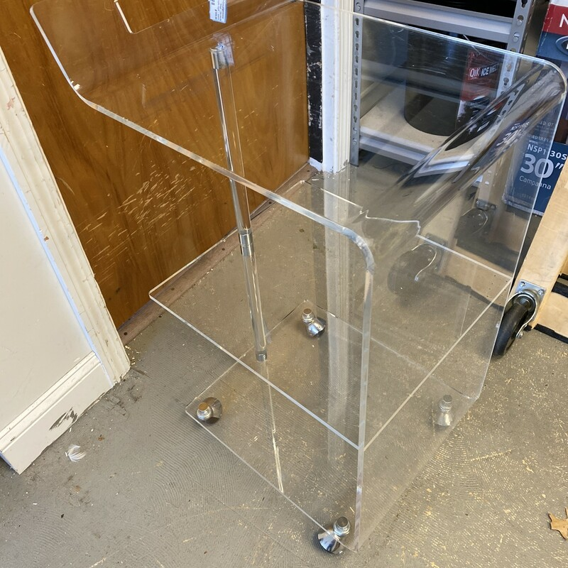 C&B -3 Level Acrylic Cart.