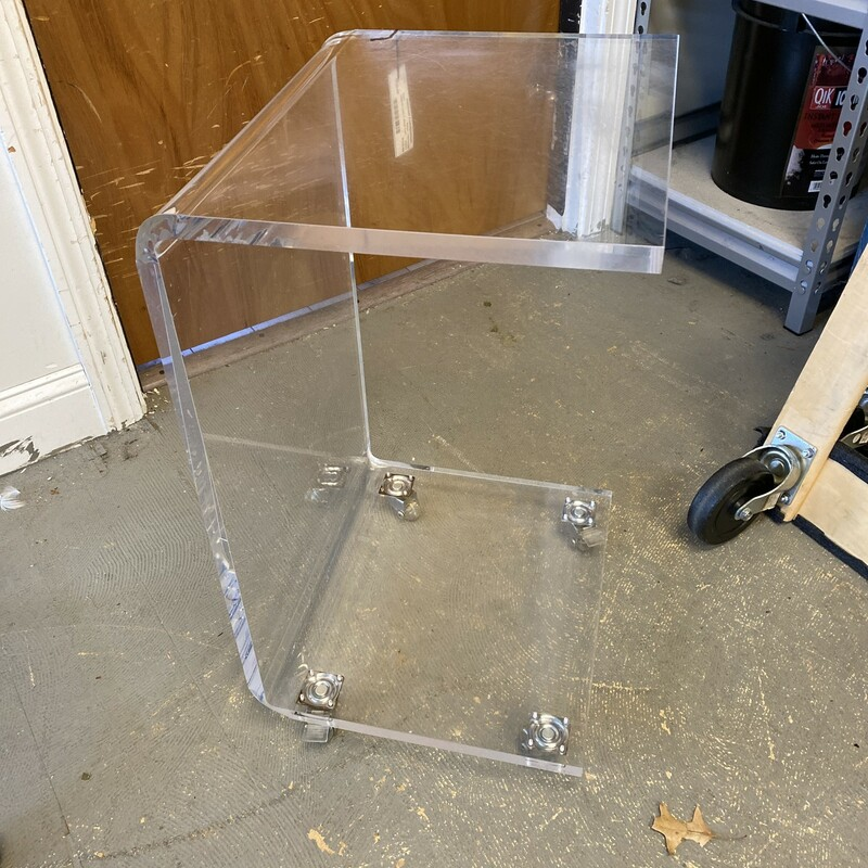 C&B-Acrylic 1 Shelf Cart.