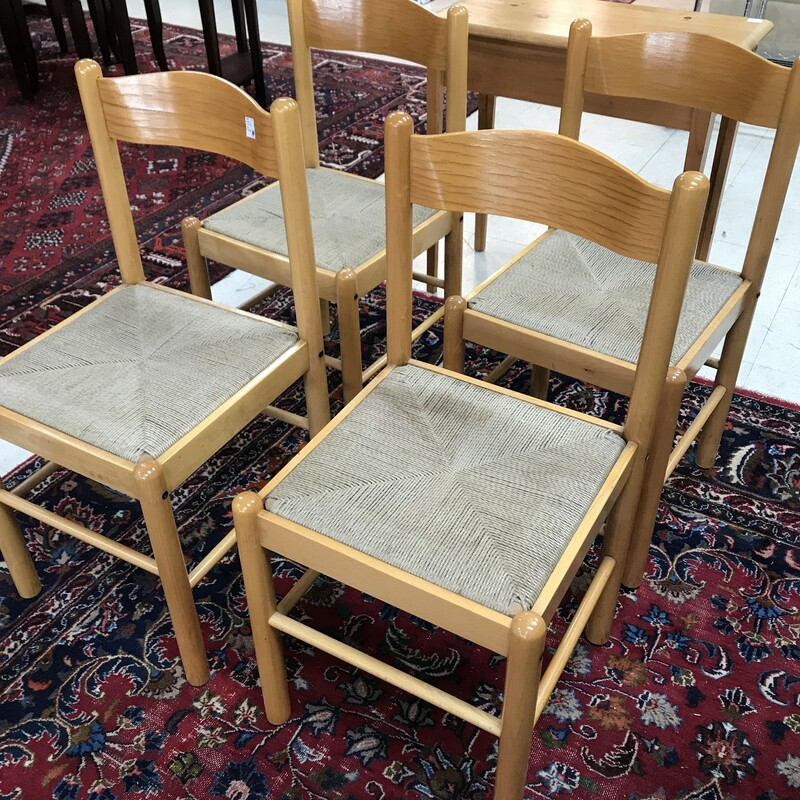 4 Oak Chairs.