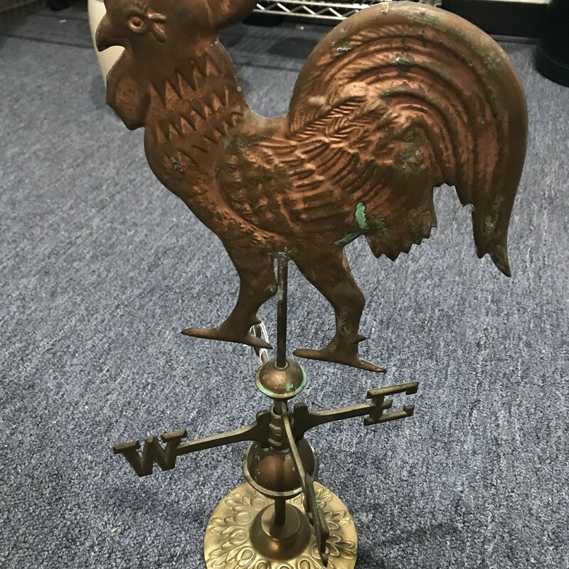 Metal Rooster Weather Van.