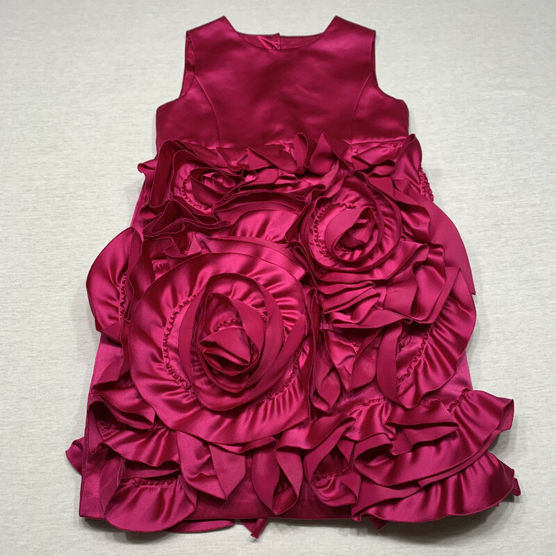 Neiman Marcus satin dress with soutache skirt