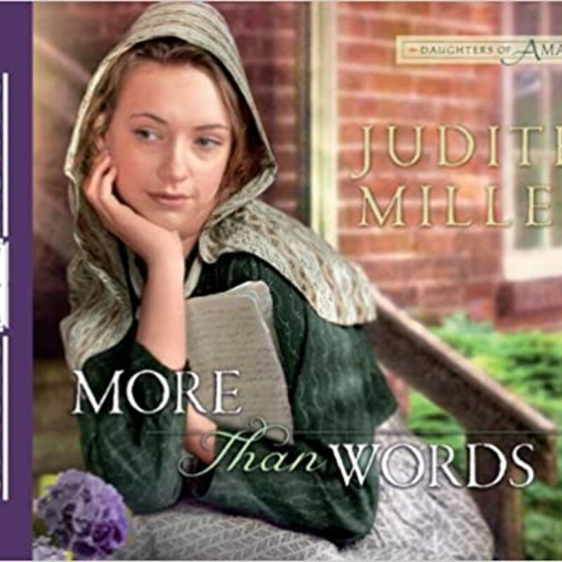 Audio<br /> Judith Miller (Goodreads Author)<br /> More Than Words (#2Daughters of Amana)<br /> Religious Fiction Amish<br /> <br /> Gretchen Kohler is an Amana storekeeper's daughter with a secret passion for writing. But artistic pursuits are frowned upon in her conservative Amana village, so she confines her poems and stories to her journals, letting only close friends read them. When a young reporter comes into her store, she believes she's found a kindred spirit. She shares a few of her stories with him--only to have her trust betrayed in the worst of ways, resulting in trouble for her entire community. The scandal is made even worse by the fact that gypsies have camped nearby and seem to be preying upon the Amanans' compassionate, pacifist nature. Will Gretchen lose her job, her reputation, and the love of her childhood beau all because of one bad decision?
