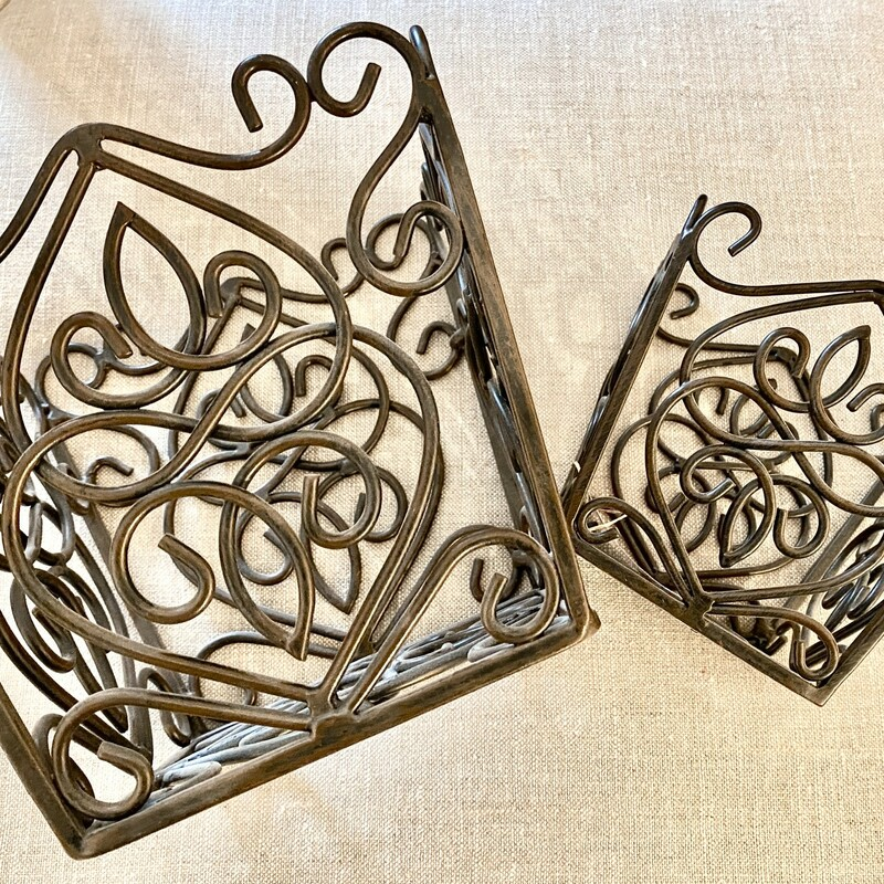 Small & Large Metal Containers -  PAIR
