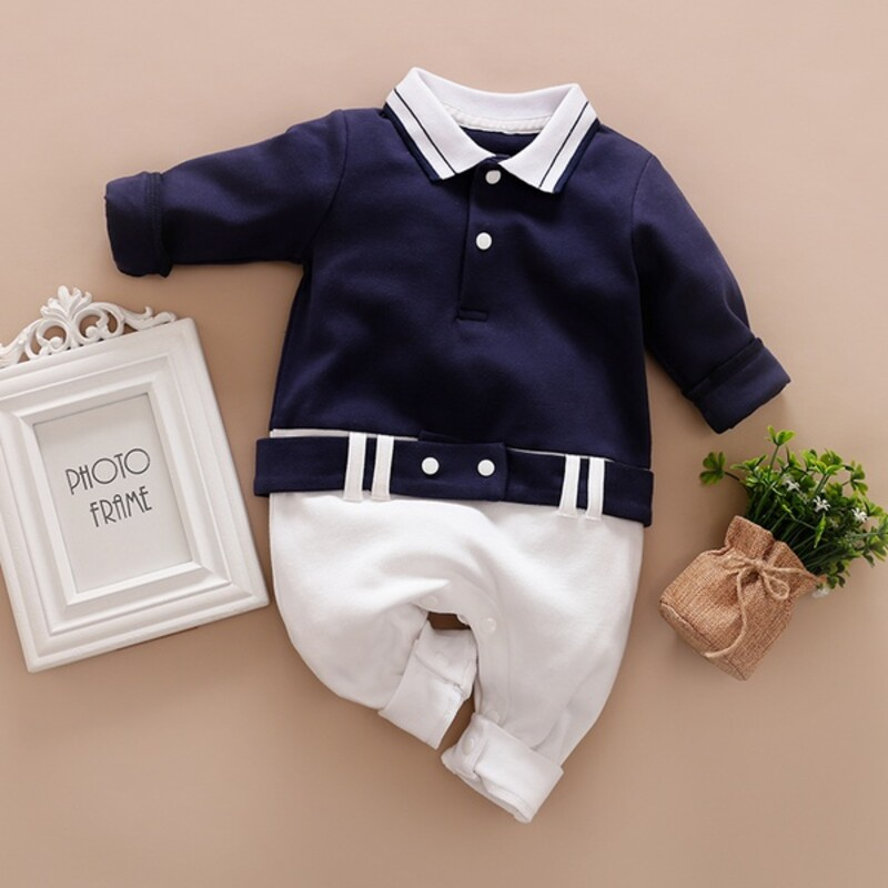 Knit Longall, Navy, Size: 6m Boy