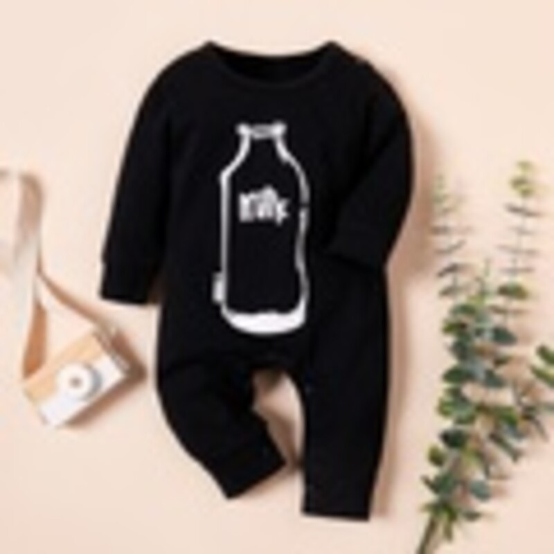 Knit Longall, Black, Size: Nwbrn Boy