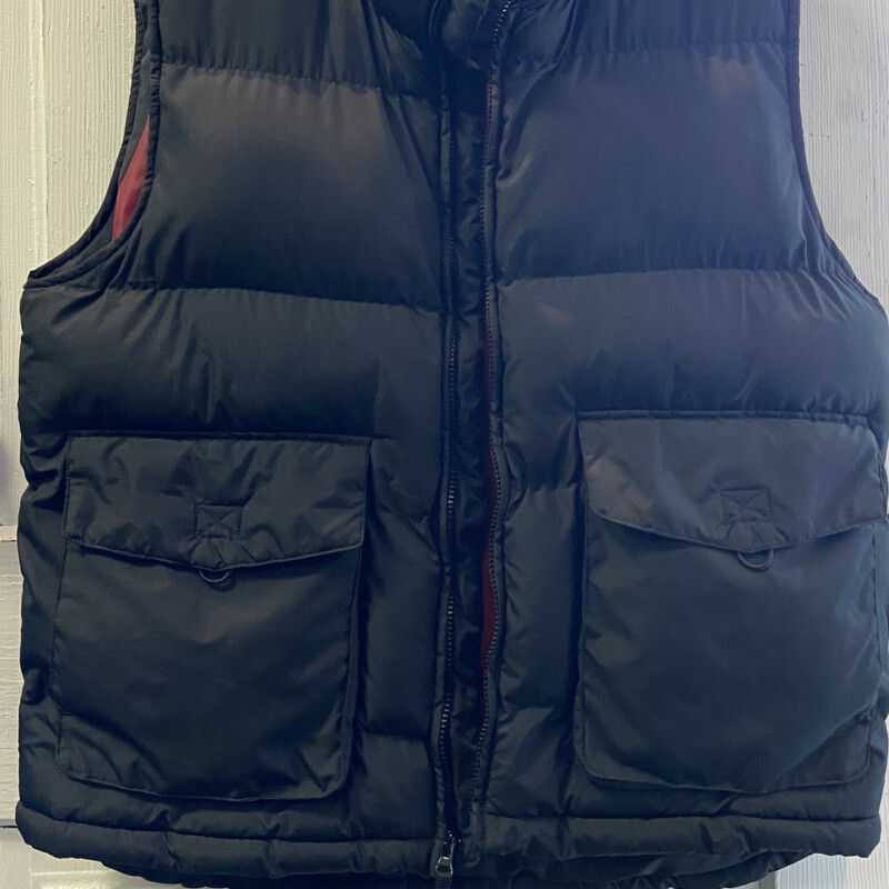 Black Puffy Zip Vest<br /> Black<br /> Size: Large
