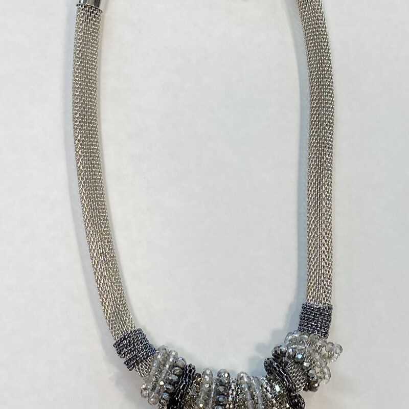 Silver Jeweled Necklace<br /> Silver<br /> Size: OS