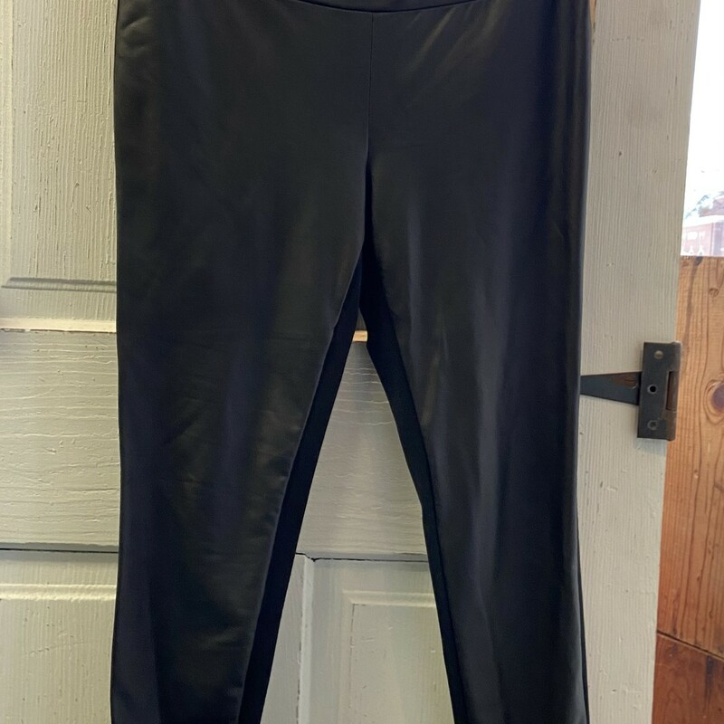 Blk Faux Leather Leggings.