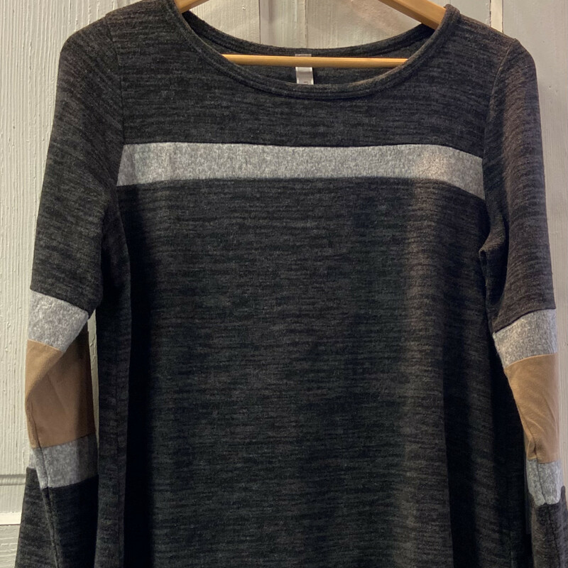 Gry/taupe Stripe Top.