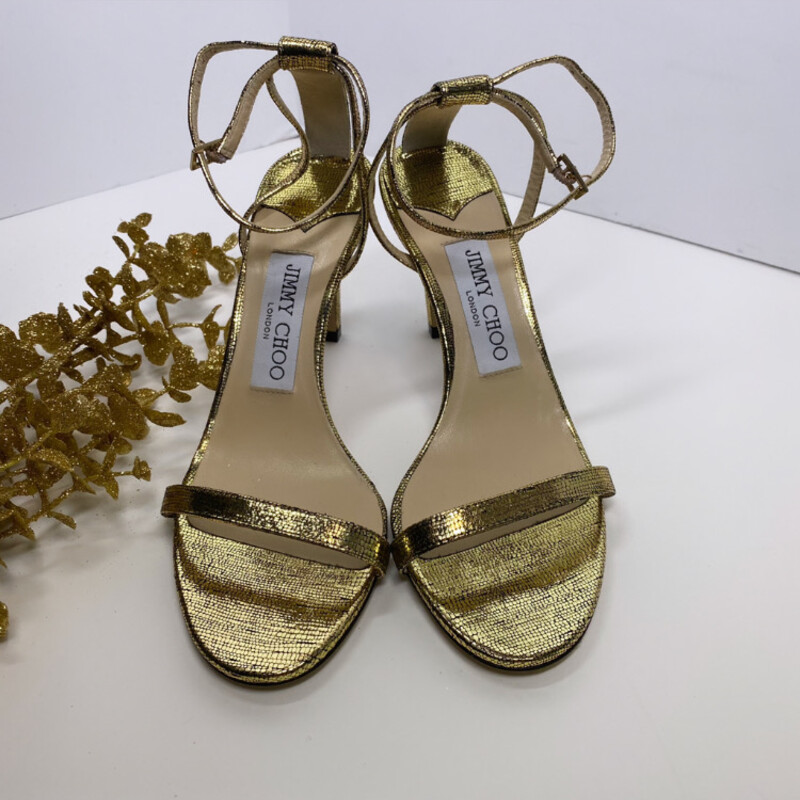 Jimmy Choo Gold Ankle.
