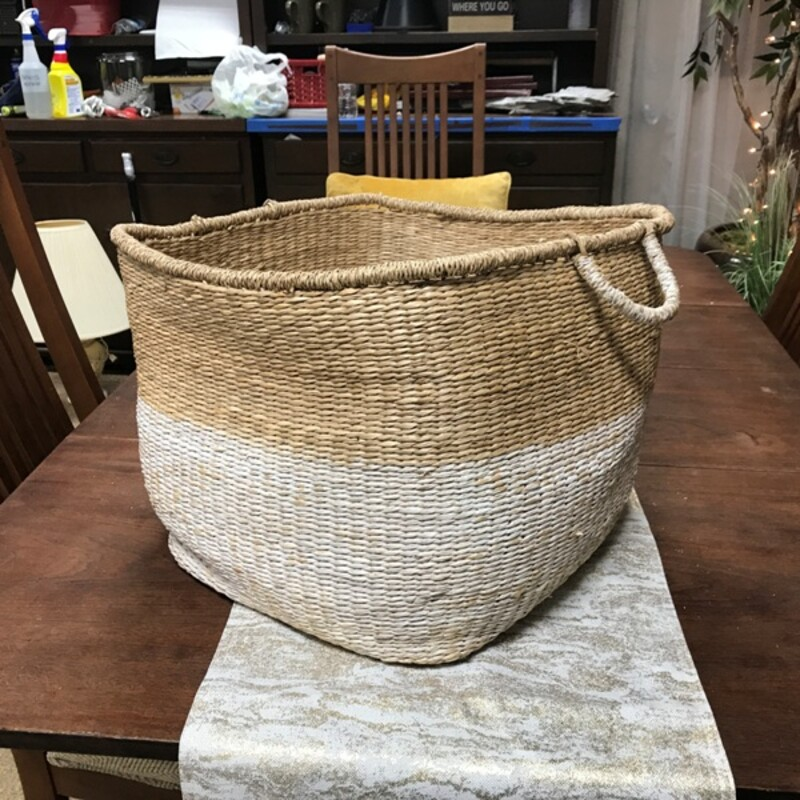 2-Handle Seagrass Basket, Size: 18x18x12