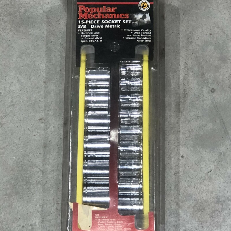Metric Socket Set.
