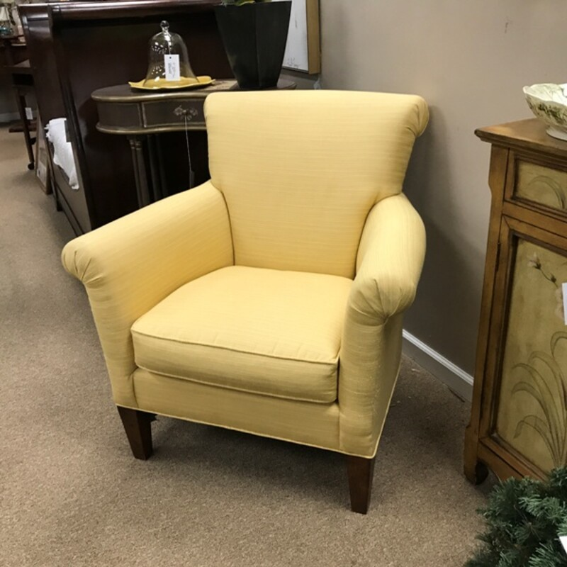 Upholstered Accent Chair, Yellow